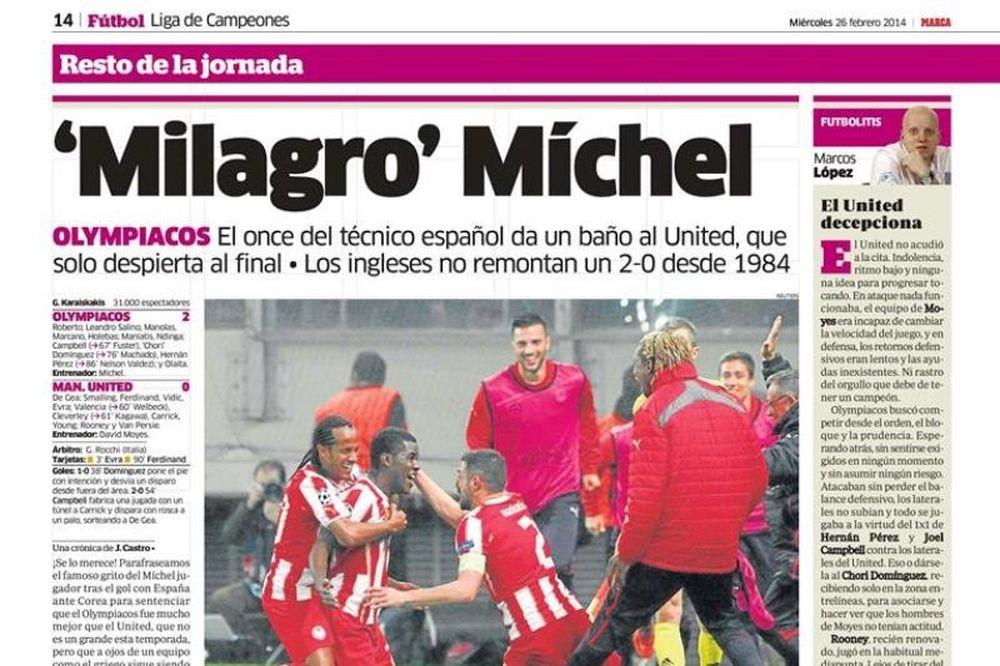 Δημοσιογράφος της Marca στο Onsports: «Θαύμα με Γιουνάιτεντ ο Μίτσελ!» (photos+videos)