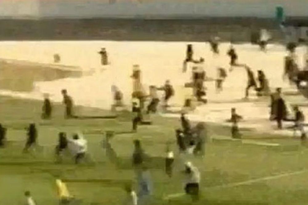 Γεωργία: Οπαδοί έκαναν ντου για να παίξουν ξύλο με τους αντιπάλους (video)