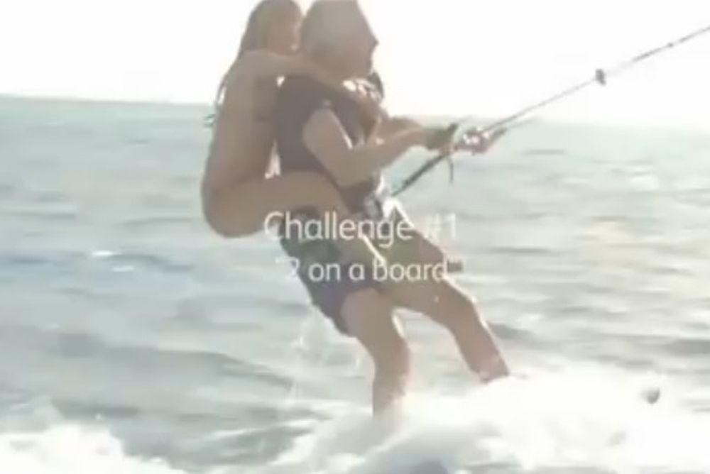 Kitesurfing: Παγκόσμιο ρεκόρ από άνδρα «αγκαλιασμένο» με τρεις καλλονές (video)