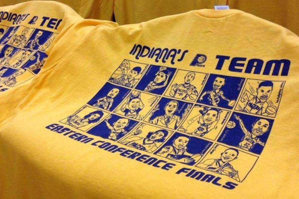 Ιντιάνα Πέισερς: Τα μπλουζάκια του δεύτερου τελικού (photo)