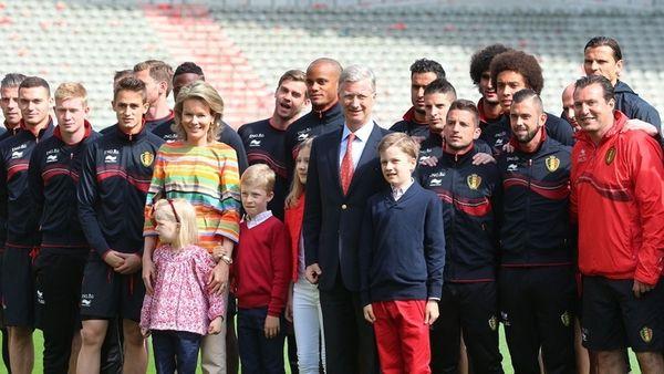 Mundial 2014: Βασιλικές ευχές για τους «κόκκινους διάβολους» (photos)