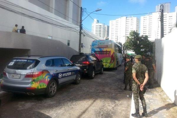 Ελλάδα - Κόστα Ρίκα: Η «γαλανόλευκη» διαδρομή στο γήπεδο (photos)