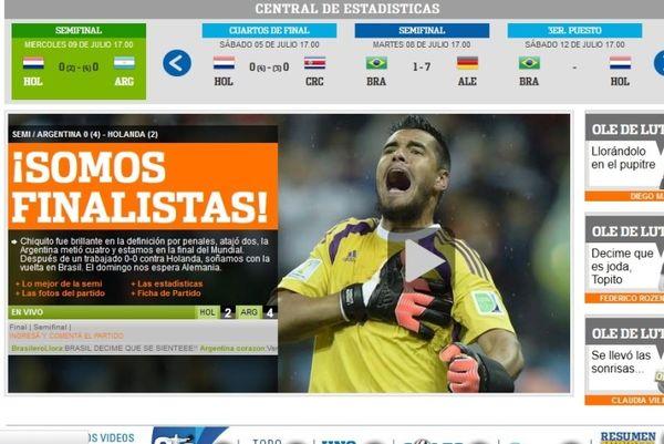 Παγκόσμιο Κύπελλο Ποδοσφαίρου 2014 – Μέσα Αργεντινής: «Ήρωας ο Ρομέρο» (photos)