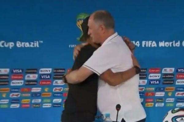 Μουντιάλ 2014 - Βραζιλία: Αγκάλιασε τον Σκολάρι ο Νεϊμάρ (video)