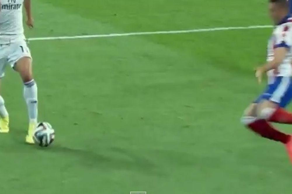 Ρεάλ - Ατλέτικο: Πήγε να «κόψει» την μπάλα στον Μπέιλ ο Σικέιρα (video)