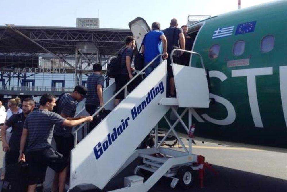 ΠΑΟΚ: Αναχώρησε για Κισινάου (photos)