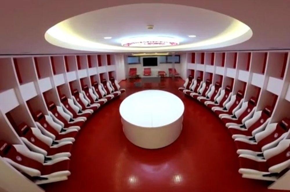 Ολυμπιακός: Σε ευρωπαϊκά πρότυπα τα νέα αποδυτήρια (video)