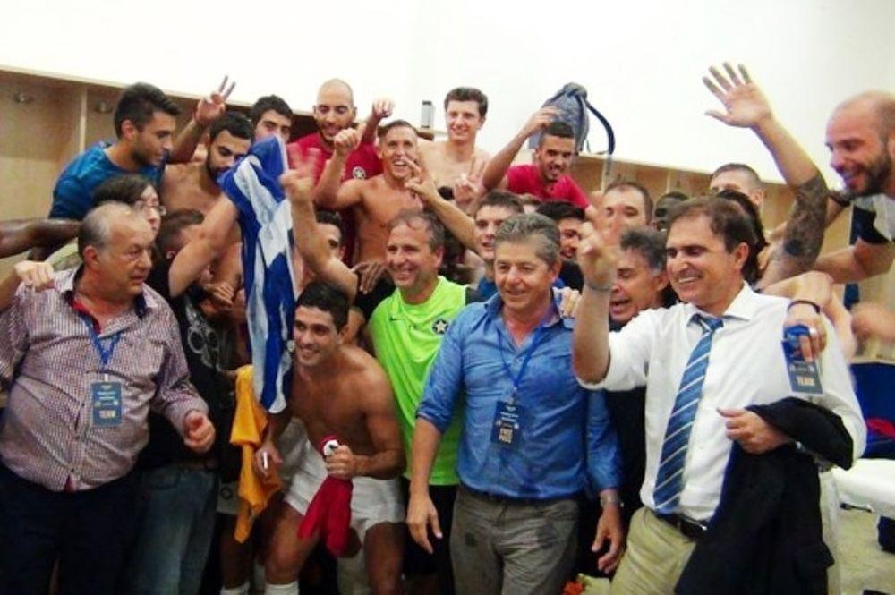 Αστέρας Τρίπολης: Πάρτι στα αποδυτήρια (video)