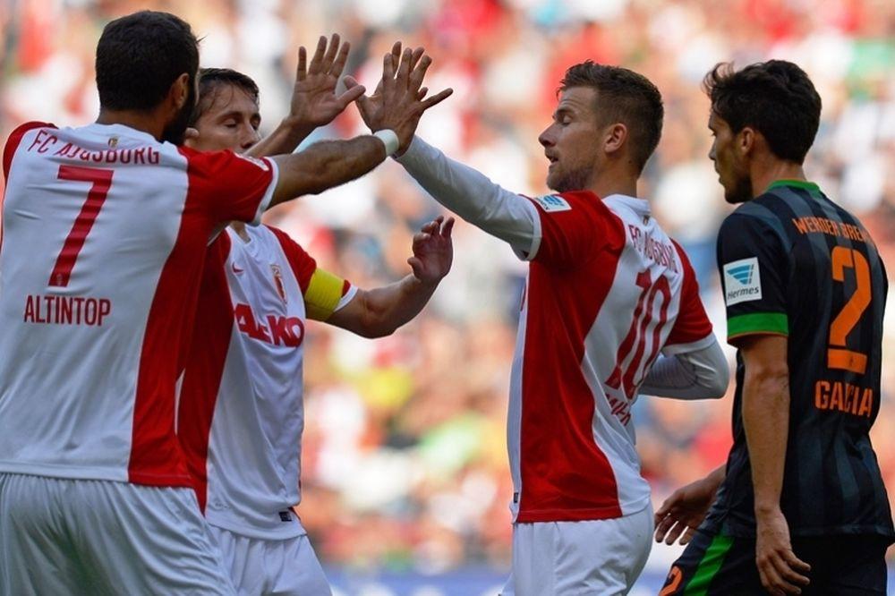 Μεγάλη νίκη για Άουγκσμπουργκ, 4-2 τη Βέρντερ (video)