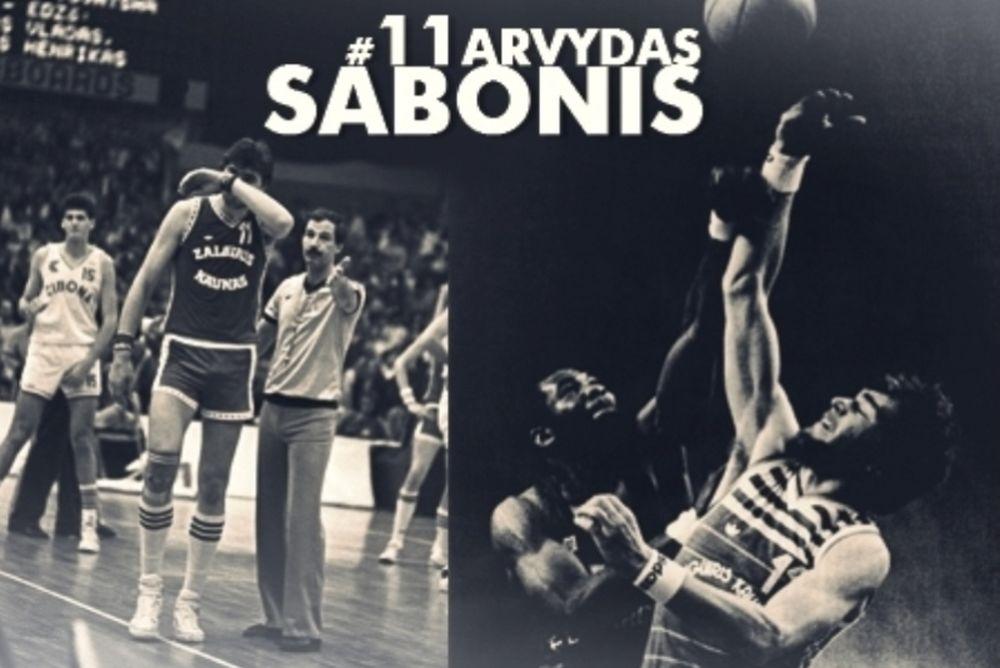 Ζαλγκίρις Κάουνας: Αποσύρεται το Νο 11 του Σαμπόνις (video+photos)
