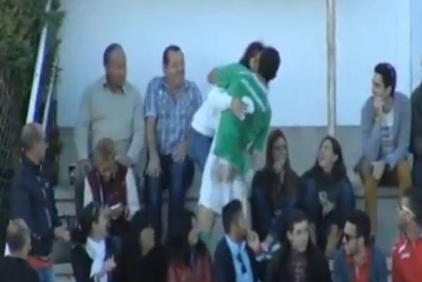 Ισπανία: Παίκτης είδε κίτρινη επειδή... φίλησε τη σύντροφό του (video)