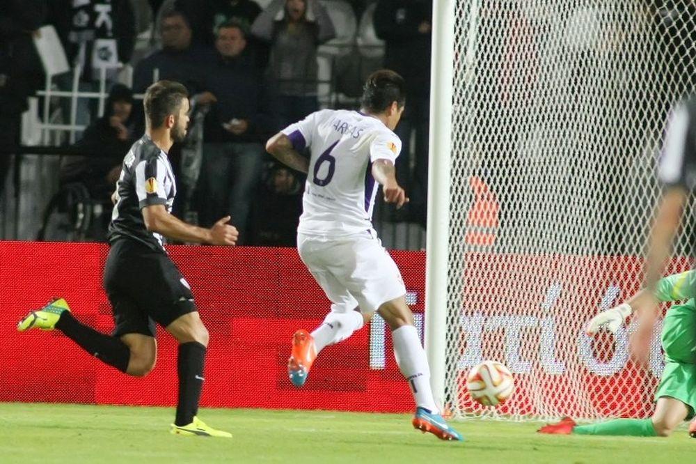 ΠΑΟΚ – Φιορεντίνα 0-1: Το γκολ του Βάργκας (video)