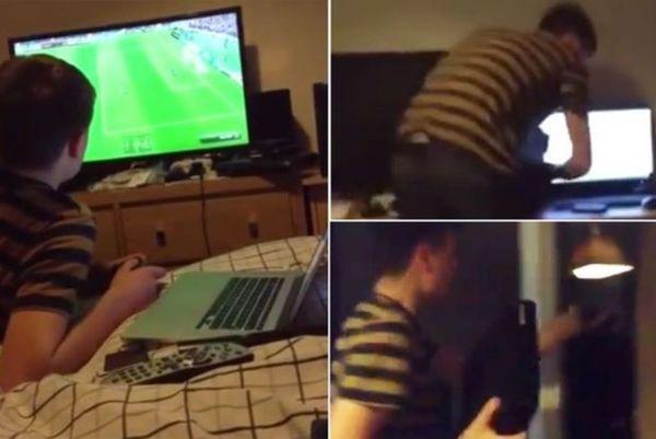 Πέταξε το playstation από το παράθυρο όταν δέχθηκε γκολ στο FIFA (video)
