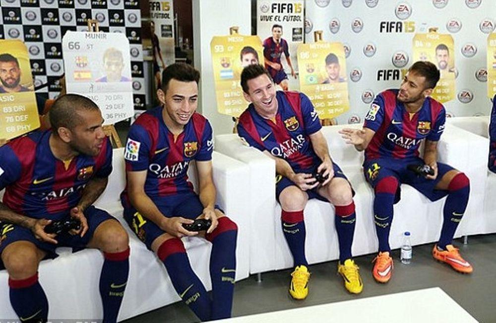 Χαλάρωμα με … FIFA 15 η Μπαρτσελόνα (video+photos)