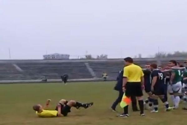 Ουκρανία: Παίκτης γρονθοκόπησε διαιτητή! (video)