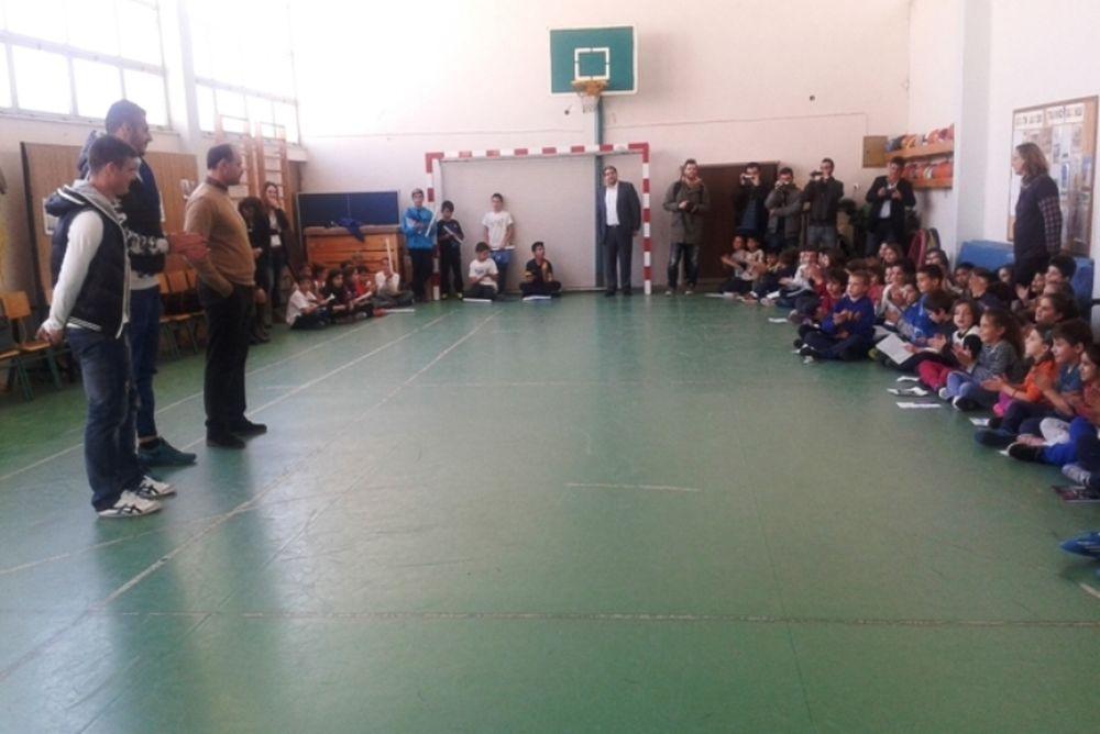 Αστέρας Τρίπολης: Στο 3ο Δημοτικό αντιπροσωπεία παικτών (photos)
