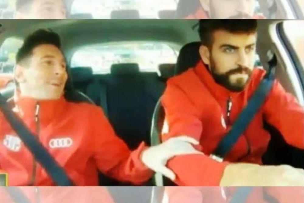 Μπαρτσελόνα: Φρικάρει με την οδήγηση του Πικέ ο Μέσι (video)