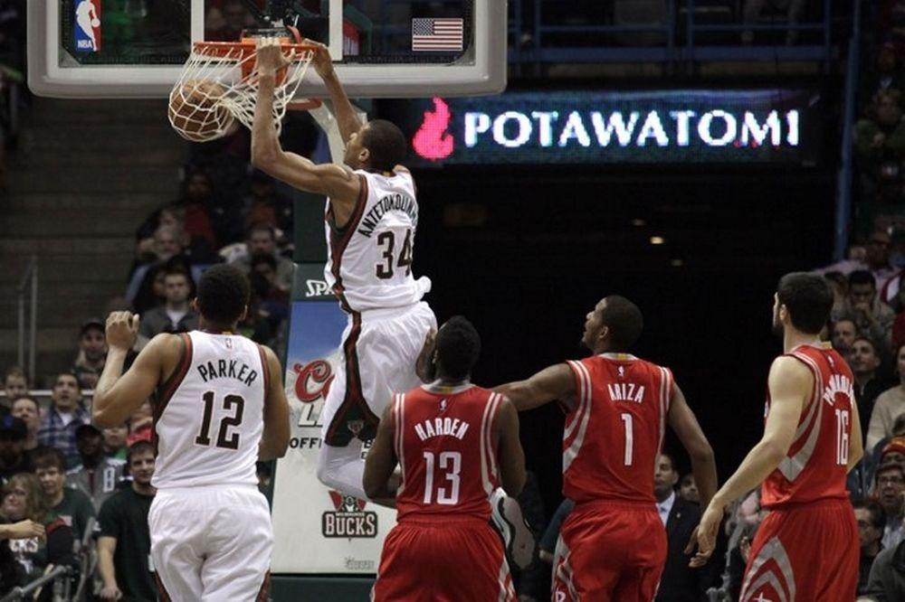 NBA: Κάρφωσε ο Αντετοκούνμπο… πάνω στον Παπανικολάου (video)