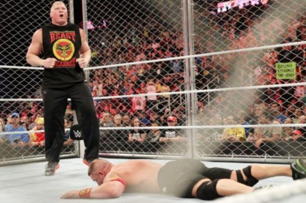 Raw: Στο κλουβί ο Brock Lesnar! (videos+photos)