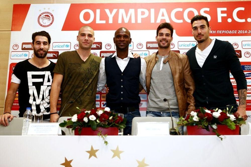 Ολυμπιακός: Αποχαιρέτισαν Αμπιντάλ οι Ρομπέρτο, Μποτία, Ντουρμάζ και Κασάμι (photos)