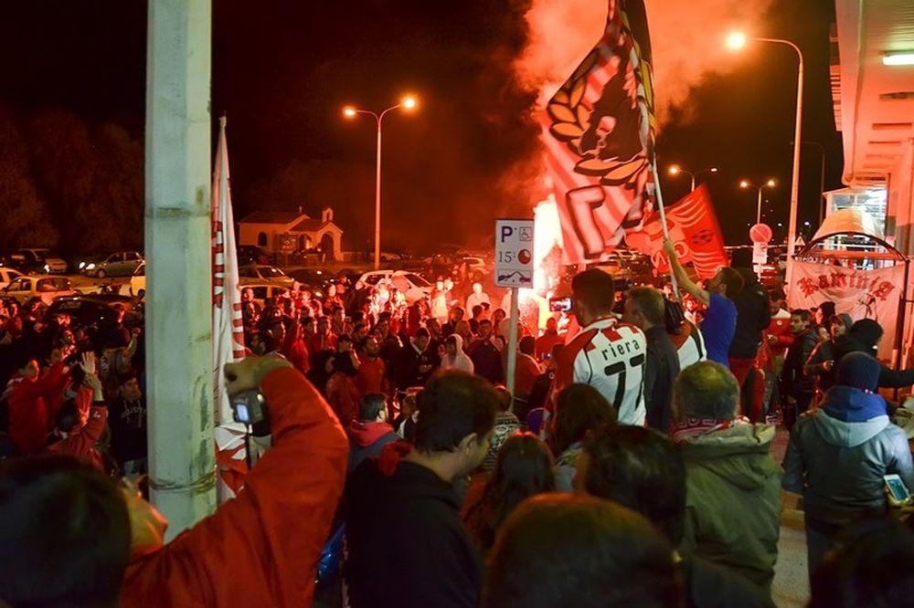 Ολυμπιακός: Αποθέωση στην Μυτιλήνη (photos)