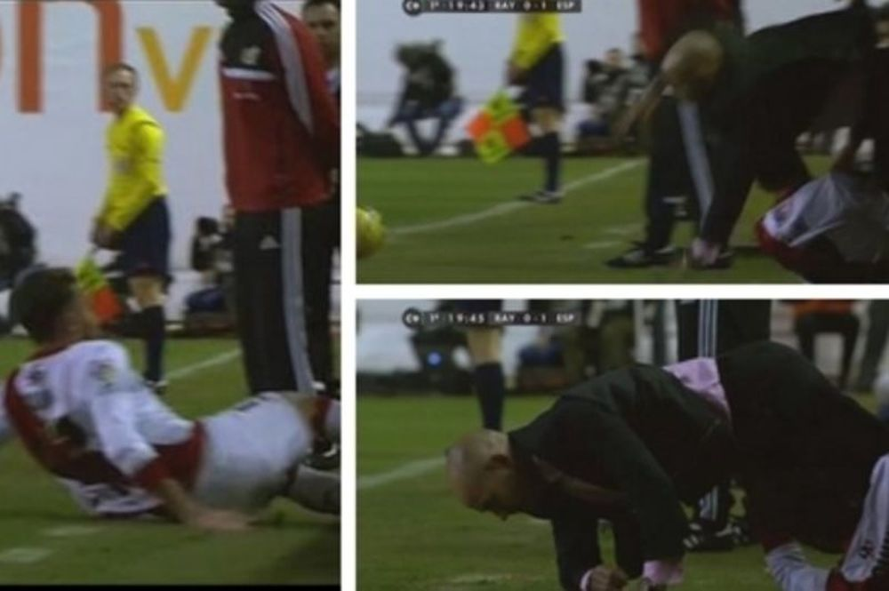 Πήρε φόρα και γκρέμισε τον προπονητή του ο  Κίνι(video)