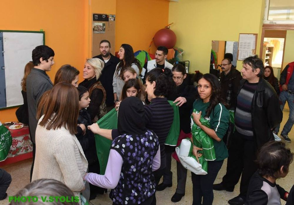 Παναθηναϊκός: Μοίρασε αγάπη σε παιδιά (photos)