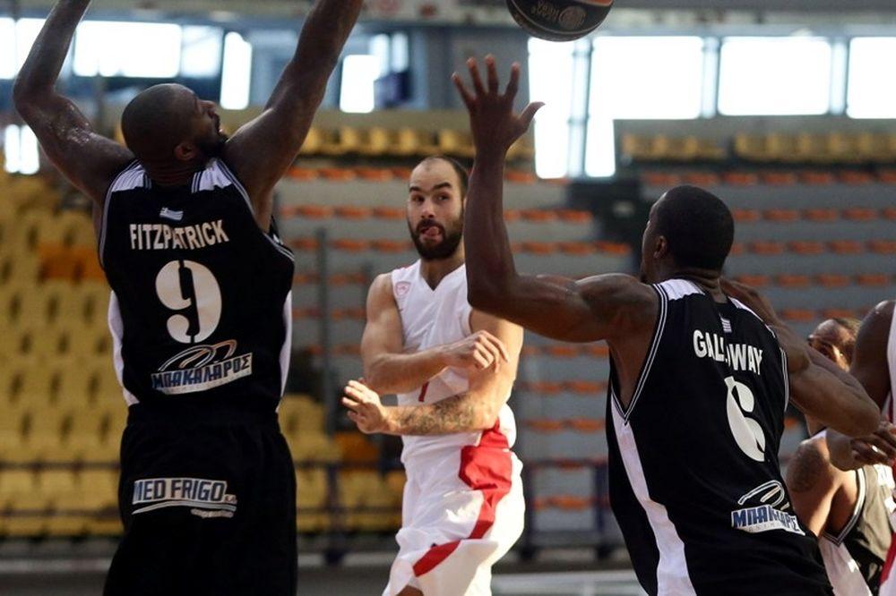 Basket League: Απόλλωνας Πατρών - Ολυμπιακός 56-67