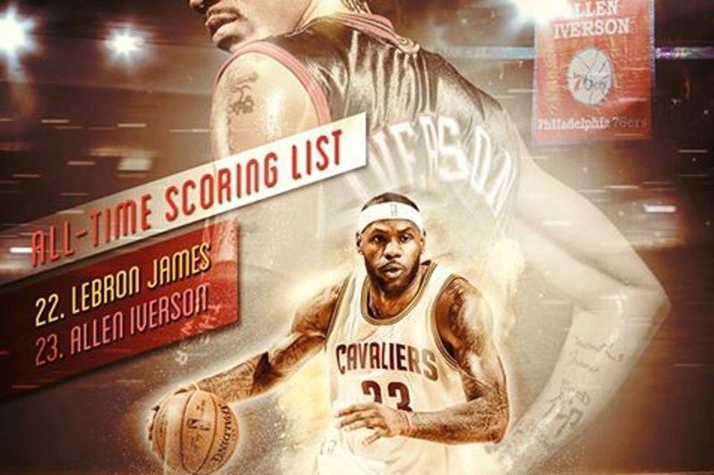 NBA: Προσπέρασμα Λεμπρόν σε Άιβερσον (videos)