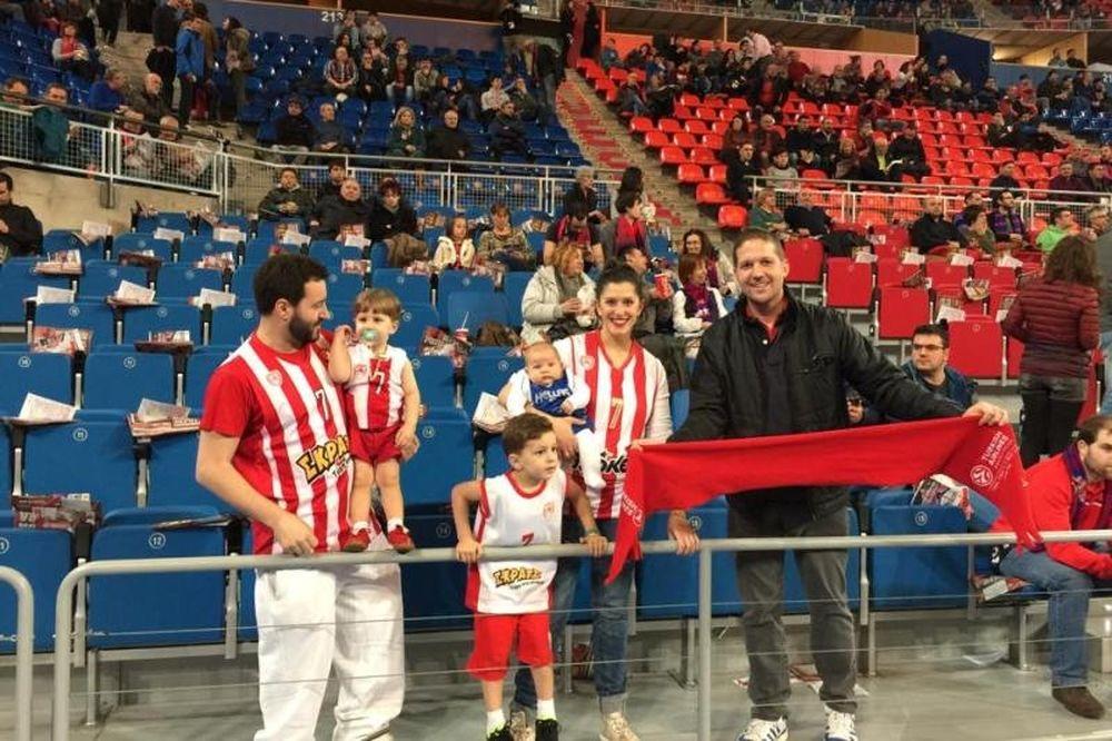 Ολυμπιακός: Ολόκληρη η… οικογένεια Σπανούλη (photo)