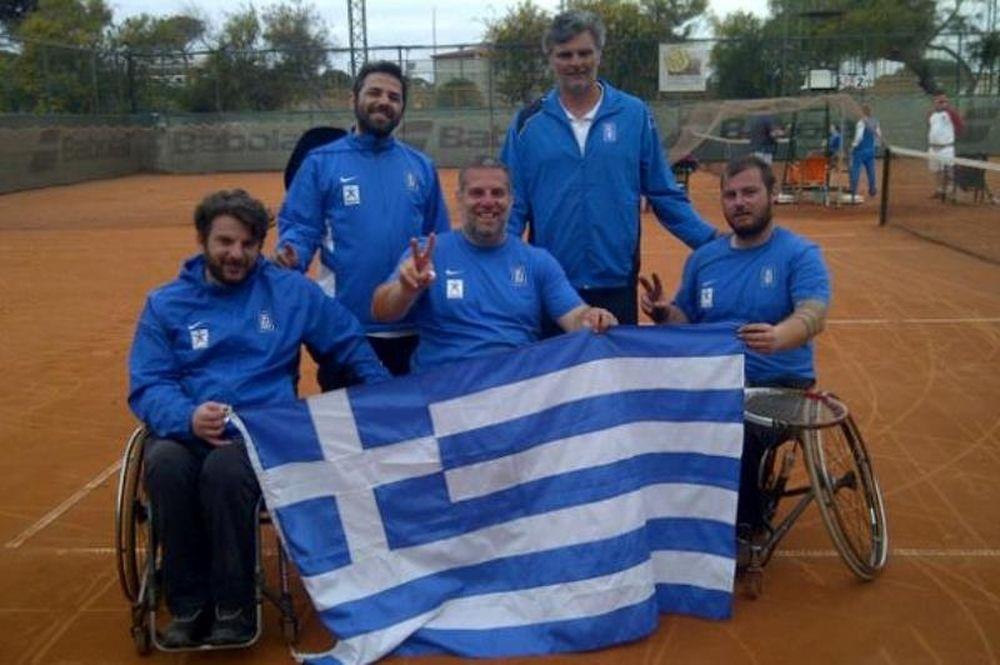 Τένις με Αμαξίδιο: Πρωτιά στο Παγκόσμιο για Ελλάδα
