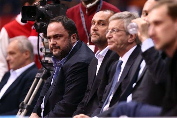 Ολυμπιακός: Στο ΣΕΦ Μαρινάκης, Περέιρα και παίκτες (photos)