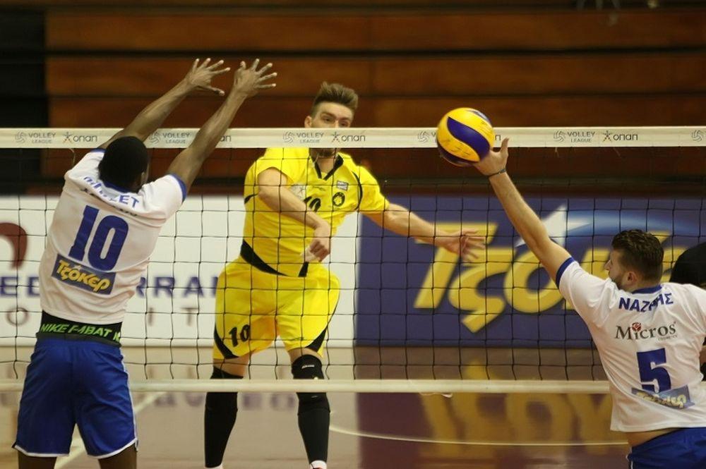 Volleyleague: Αποχαιρέτησε η ΑΕΚ χάνοντας από τη ΜΕΝΤ (photos)