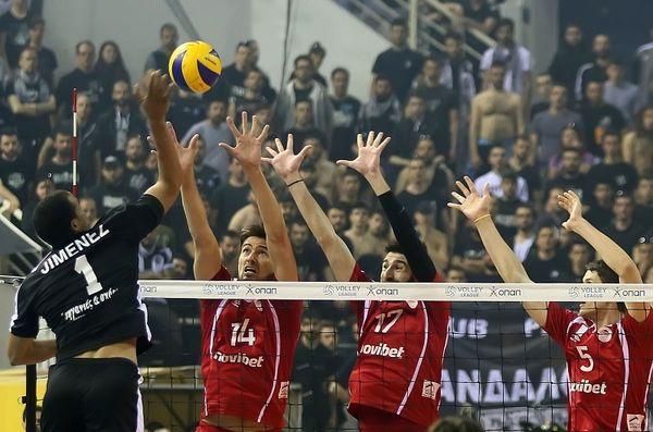 Volleyleague: ΠΑΟΚ - Ολυμπιακός 3-0 (photos)