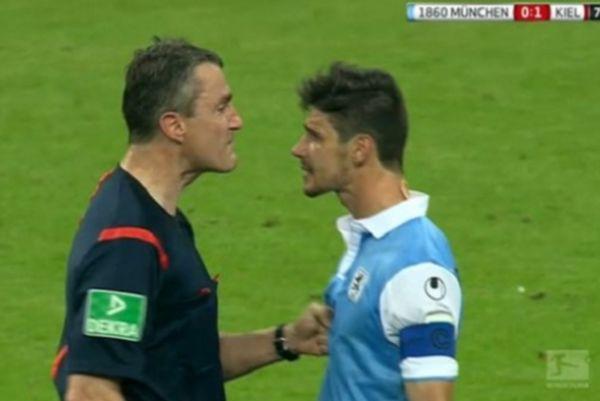 Διαιτητής παραλίγο να δείρει παίκτη στη Γερμανία! (video)