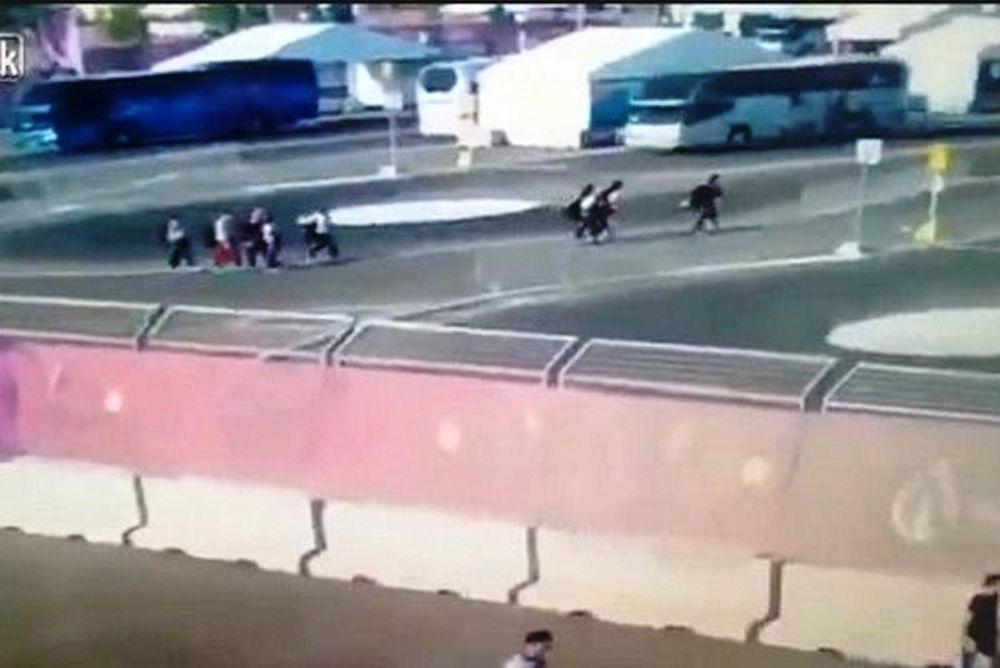 Το σοκαριστικό βίντεο με το λεωφορείο που χτύπησε τις αθλήτριες (video)