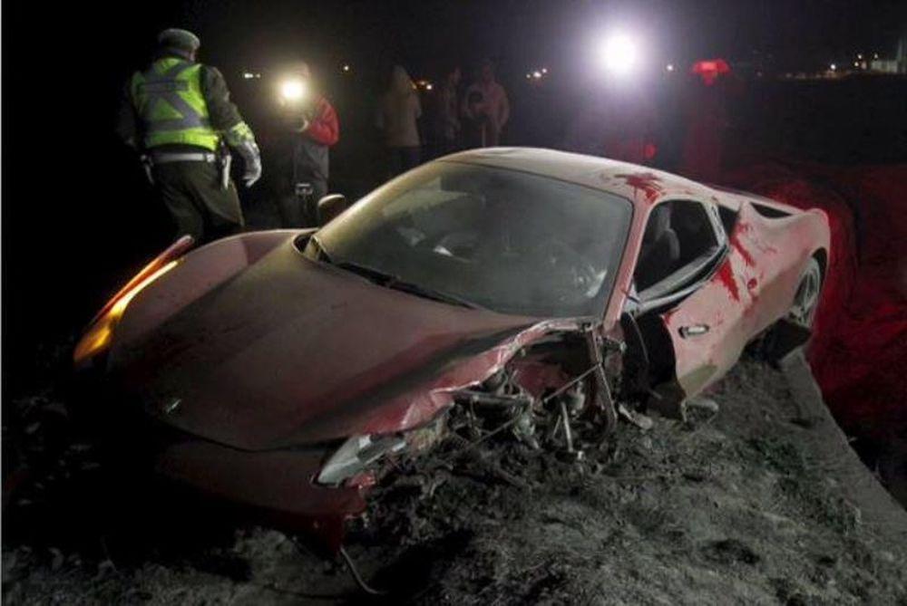 Διέλυσε τη Ferrari του και συνελήφθη… μεθυσμένος ο Βιδάλ! (photos+videos)
