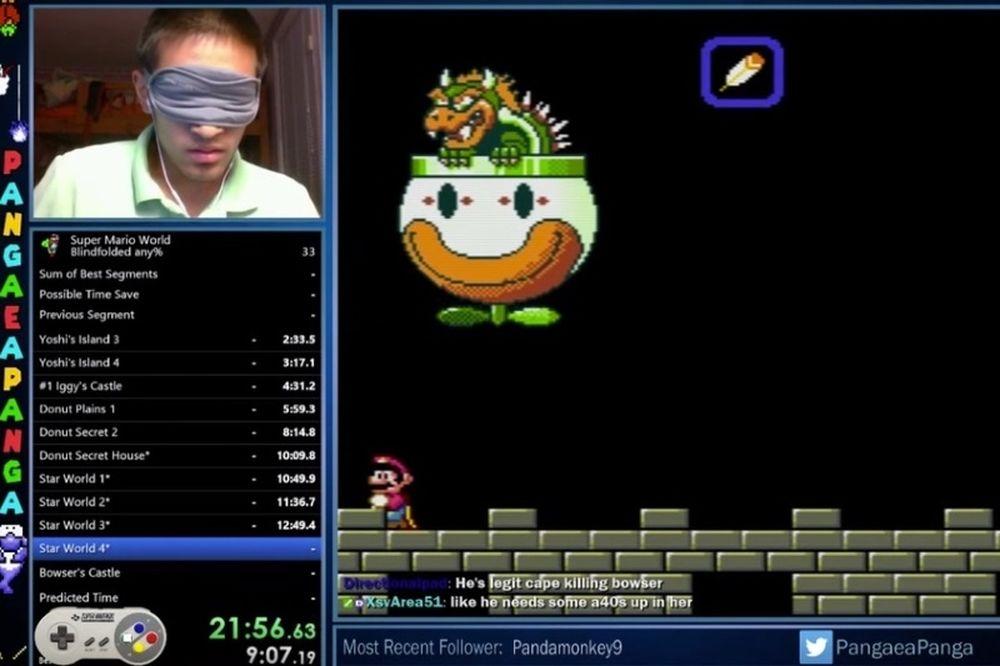 Τερμάτισε το Super Mario World σε 23 λεπτά... χωρίς να βλέπει!!! (video)