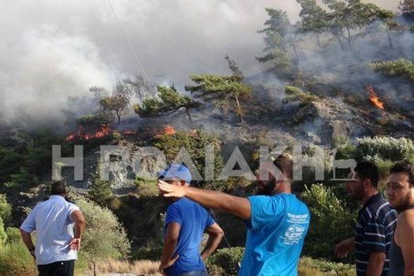 Μεγάλη πυρκαγιά στη Ρόδο (video)