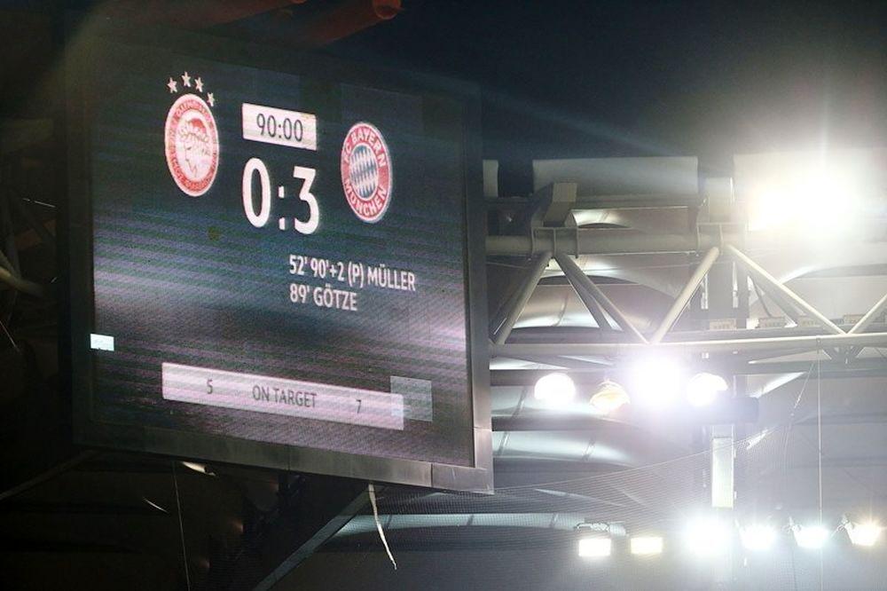 Ολυμπιακός – Μπάγερν Μονάχου 0-3: Τα γκολ του αγώνα (video)