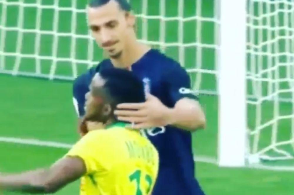 Τον... άρπαξε από το λαιμό ο Ιμπραΐμοβιτς! (video)