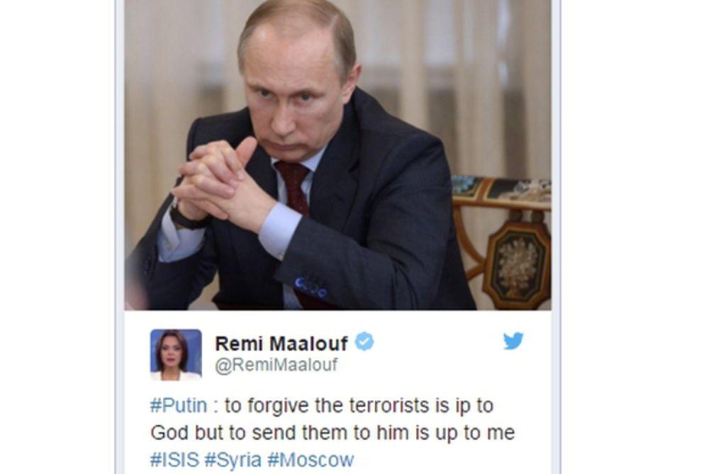 Πούτιν για τζιχαντιστές: Η συγχώρεσή τους εναπόκειται στο Θεό, το να τον συναντήσουν σε εμένα