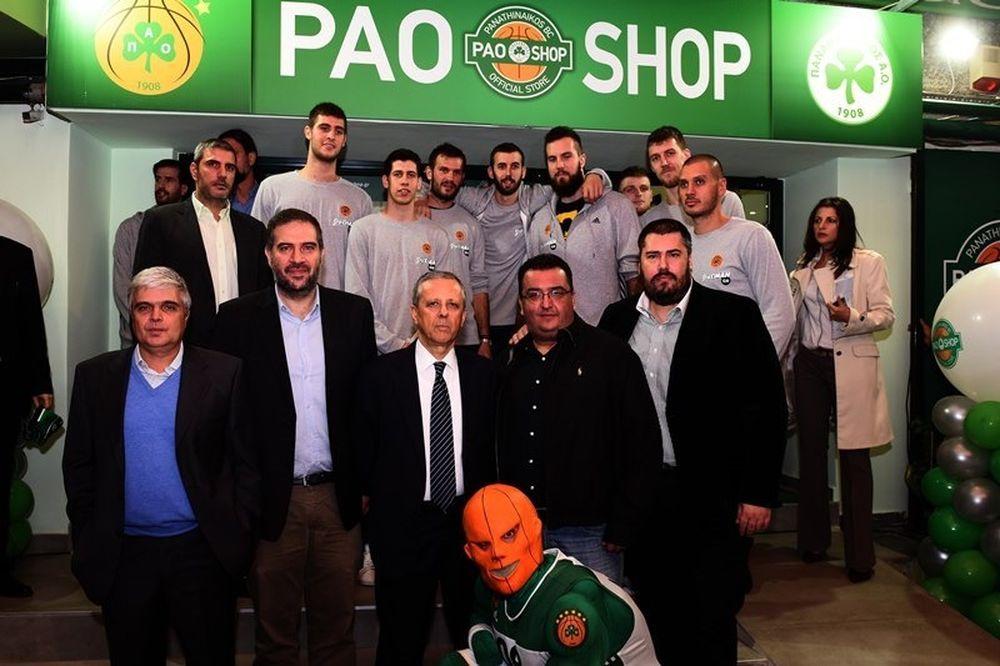 «Πράσινη» λάμψη στα εγκαίνια του PAO Shop (photos)