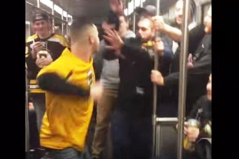 Απίστευτο ξύλο στο τρένο από οπαδούς! (video)