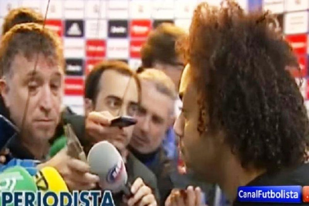 Ξέσπασε σε δημοσιογράφο ο Μαρσέλο (video)