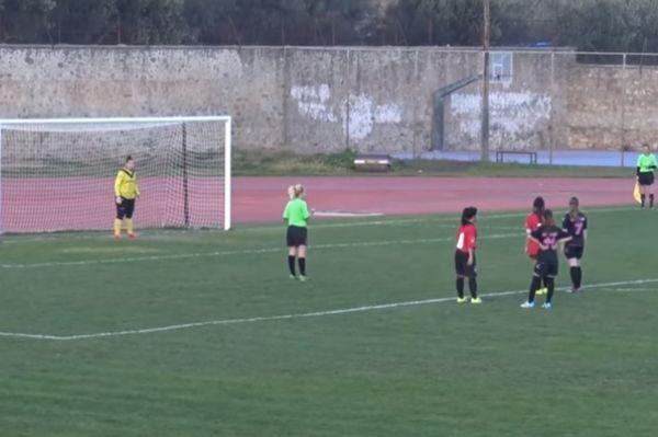 Πέναλτι-πάσα σε αγώνα γυναικείου ποδοσφαίρου στη Σπάρτη! (video)