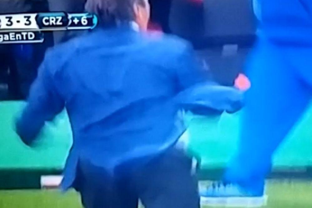 Προπονητής αποβλήθηκε λόγω… πανηγυρισμού! (video)