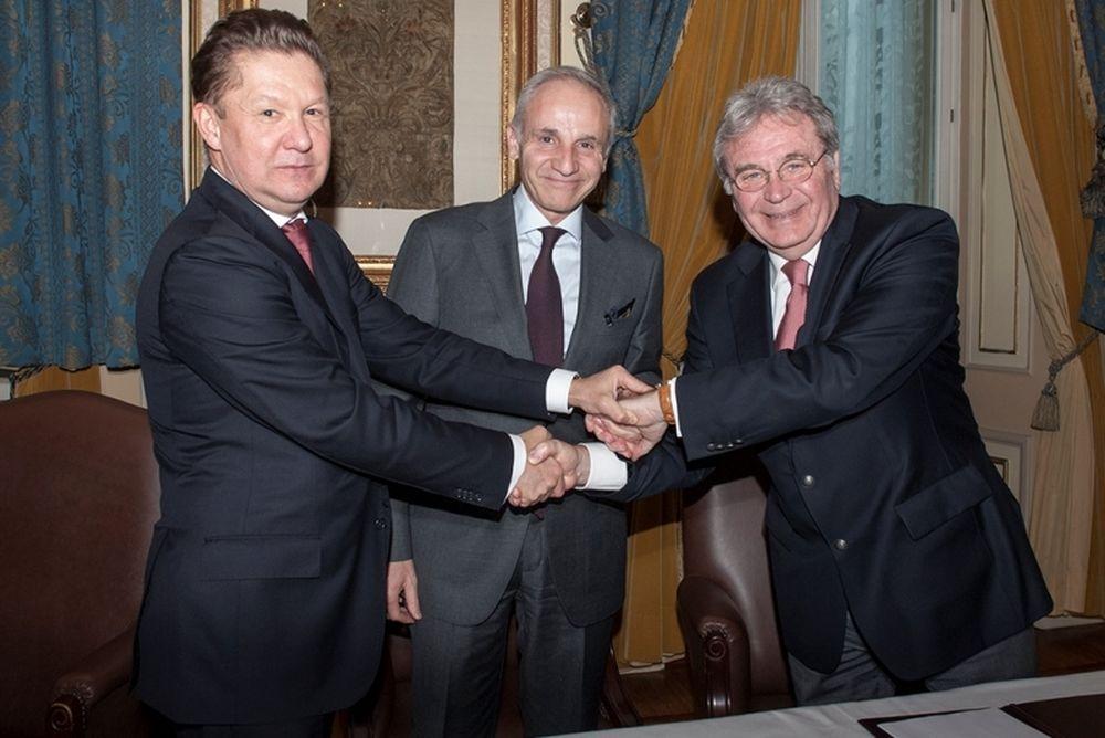 Η Gazprom, η ΔΕΠΑ και η Edison υπογράφουν Μνημόνιο Συναντίληψης