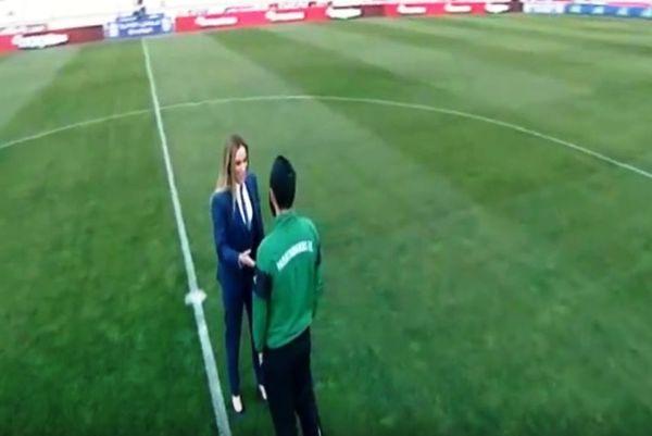 Καυτό τετ α τετ της Κουρομπίλια με παίκτη του Παναθηναϊκού (video)