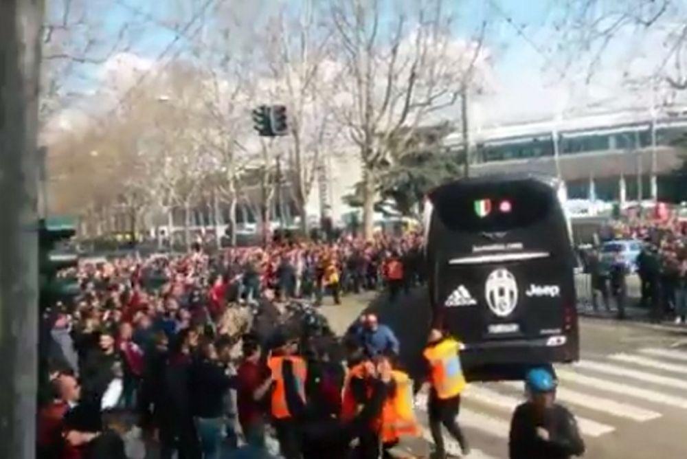 Σοκ: Επίθεση των οπαδών της Τορίνο στο πούλμαν της Γιουβέντους! (video)